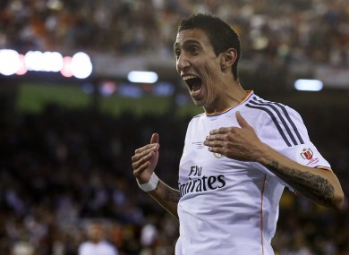 Real Madrid winger Angel Di Maria is out of favour at the Bernabeu since the  arrival of James Rodriguez.