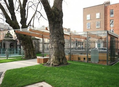 'An Síopa' on the grounds of Leinster House