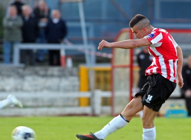Michael Duffy scored a brace for Derry this evening (file photo).