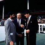 Reynolds at the races with Dr Michael Smurfit in 1994.