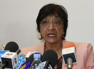 Outgoing U.N. Human Rights Commissioner Navi Pillay