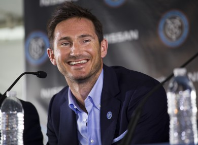 Lampard was only unveiled at New York City FC late last month.