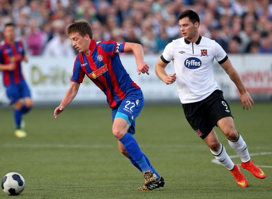 Dundalk's Patrick Hoban and Mario Maloca of Hajduk Split.