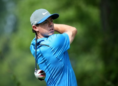 World number one Rory McIlroy.