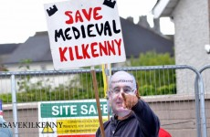 'Phil Hogans' hold protest against controversial Kilkenny bridge