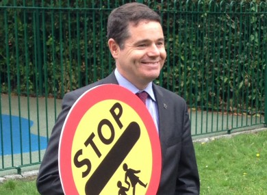 Paschal Donohoe at the launch of the Road Safety Authority's Back to School Safety campaign in Dublin today