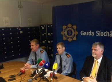 Gardaí Colm O'Malley, Paul Moran and Brendan Connolly.