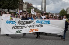 Pro-choice and pro-life groups march in Dublin