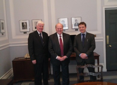 Bobby McVeigh (l) and Donal Coghlan (r) with Michael Noonan earlier this year.