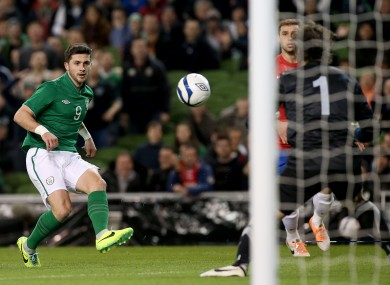Long scored Ireland's goal in the 2-1 defeat to Serbia back in March.