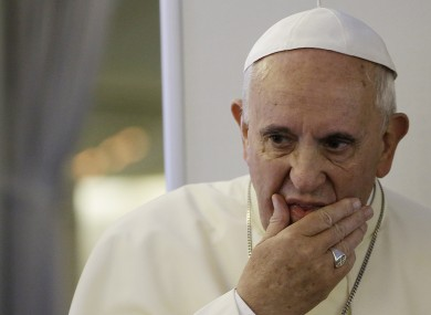 Pope Francis said that this was a case of  unjust aggression.