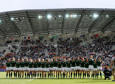 Ireland line out at the Stade Jean Bouin again this afternoon.