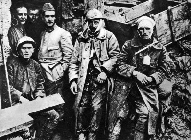 On the Western Front at Verdun, France, in 1916.
