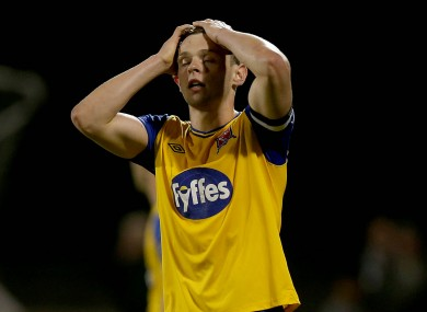 Andy Boyle of Dundalk after missing a late chance.