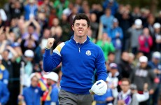 McIlroy and McDowell lead the way for Europe with wins in Ryder Cup singles