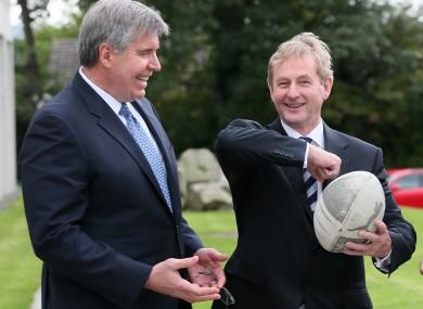 Eircom chief executive Herb Hribar with Taoiseach Enda Kenny.