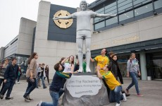 So Paddy Power have erected a 12ft 'Jim The Redeemer' statue outside Croke Park