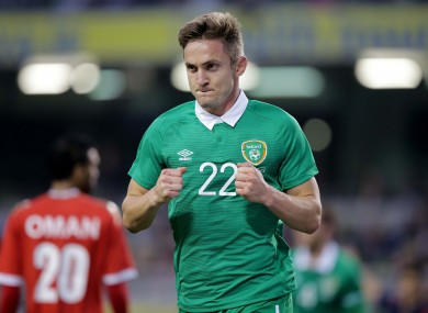 Kevin Doyle celebrates his opener.