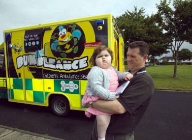 Aisling Quaid, the first user of the Bumbleance.