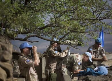 UNDOF troops in Golan Heights