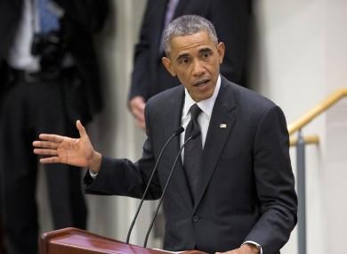 President Barack Obama speaks about the Ebola epidemic.