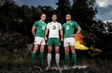 Ireland's new Canterbury home kit features a retro white collar