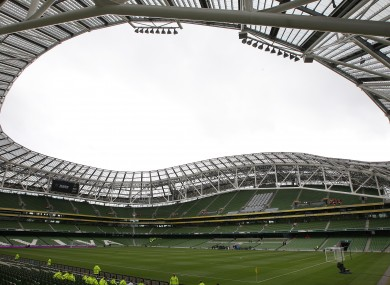 The Aviva Stadium would stage Euro 2020 games if Dublin is successful.