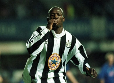 Asprilla was a cult hero at Newcastle United in the mid-90s.