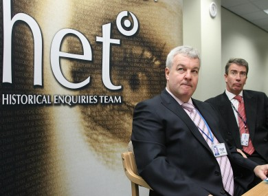 Dave Cox, former head of HET, with Phillip James, director of Intelligence and Investigations at HET.