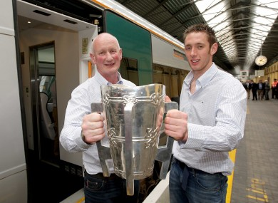 Fennelly and Cody celebrate their 2009 All-Ireland win.