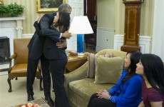 Dallas nurse cured of Ebola receives hug from Obama