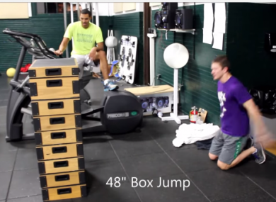 Box jumps require considerable strength to carry out successfully.