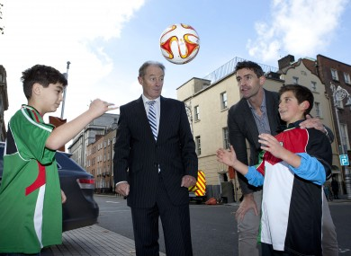 Brian Kerr helped launch the Gaza Kids to Ireland initiative with former rugby international Trevor Hogan this week.