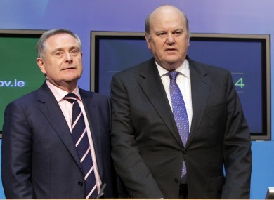 Brendan Howlin and Michael Noonan have plenty of work ahead of them over the next week.