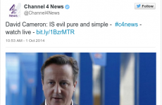 Channel 4 News accidentally called David Cameron 'evil' in a tweet