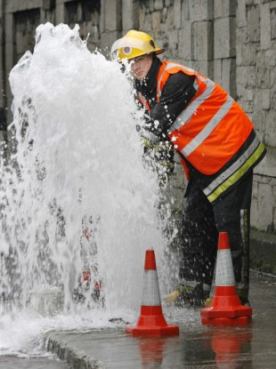 File photo of a leaking pipe.