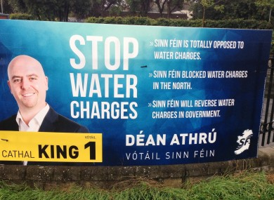 A Sinn Féin poster in Dublin South-West as the by-election looms