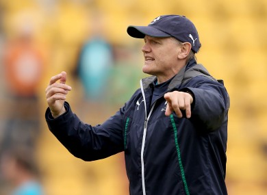 Ireland have their first autumn test on 8 November against South Africa.