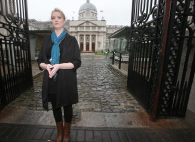 Maíria Cahill prior to her meeting with Enda Kenny at Government Buildings.