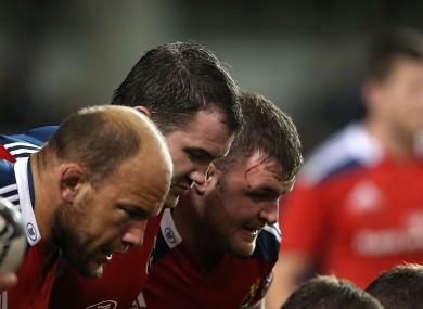 Kilcoyne in the Munster front row alongside Damien Varley and BJ Botha.