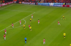 This, from Marco Reus, is probably the goal of the night