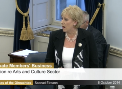 Heather Humphreys in the Seanad this evening