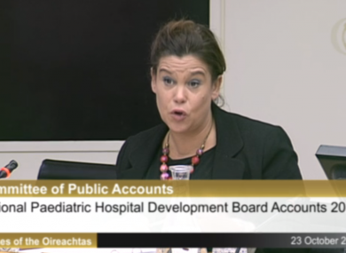 Mary Lou McDonald at the Public Accounts Committee today