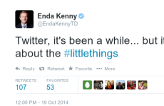 After a three year absence, here's why Enda Kenny is back tweeting about #littlethings