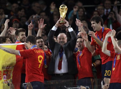 Del Bosque led Spain to their first World Cup in 2010.