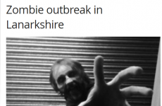A Scottish newspaper is seriously reporting a 'zombie outbreak'