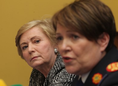 Minister for Justice and Equality Frances Fitzgerald TD and Garda Commissioner Noirin O Sullivan.