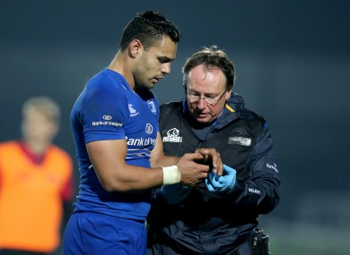 Te'o leaving the RDS pitch last Friday.