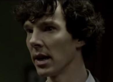 Benedict Cumberbatch as Sherlock Holmes in the BBC crime drama