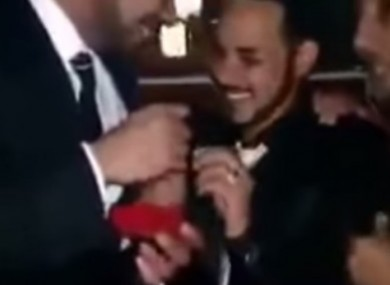 A scene from the video which emerged online.